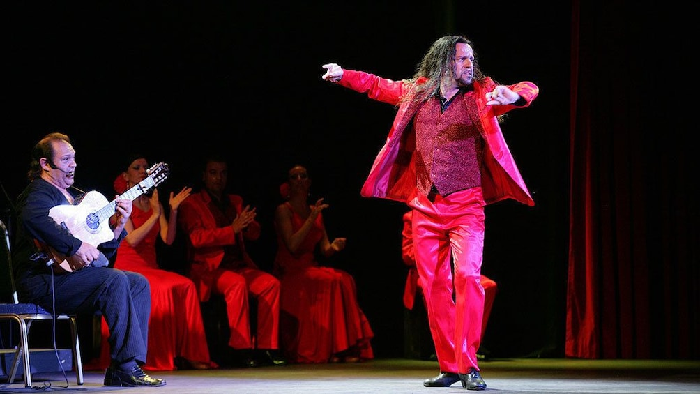 Show item 2 of 5. Man performing at the Live Flamenco Show at Gran Casino Costa Brava