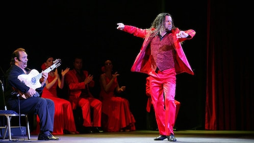 Man performing at the Live Flamenco Show at Gran Casino Costa Brava
