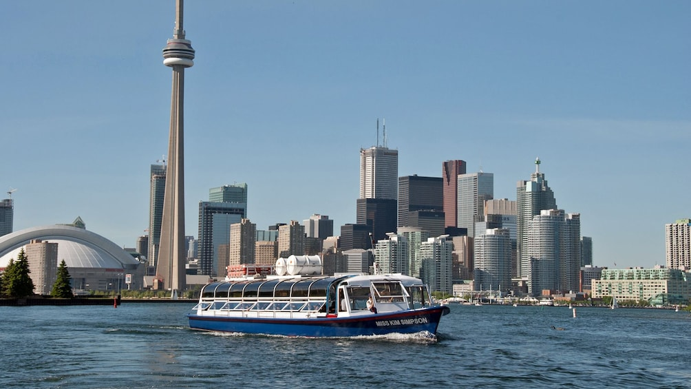 Show item 1 of 7. Cruise boat and city skyline in Toronto