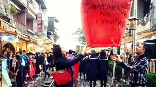 Sky lantern in New Taipei City
