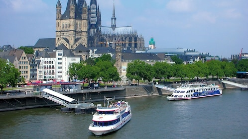 Aerial view of Rhine Panorma Cruises in Cologne