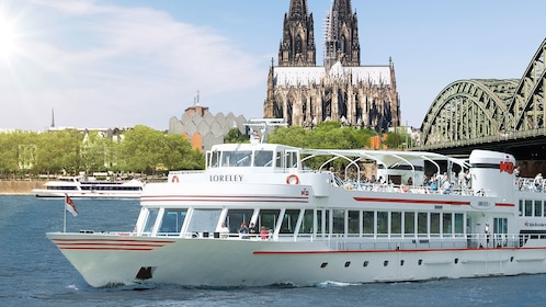 Close view of a boat cruise in Cologne