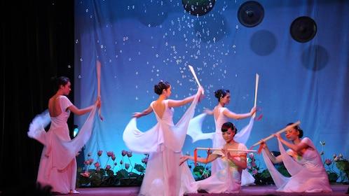 Dancers onstage in Hanoi