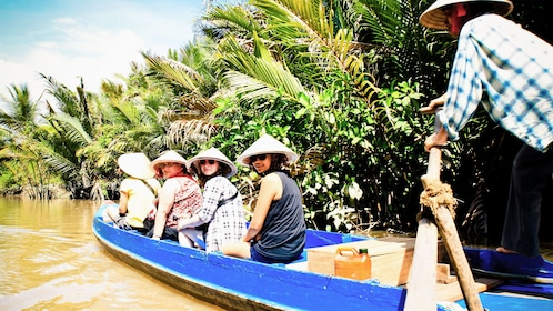 Boating group on the Mekong Delta