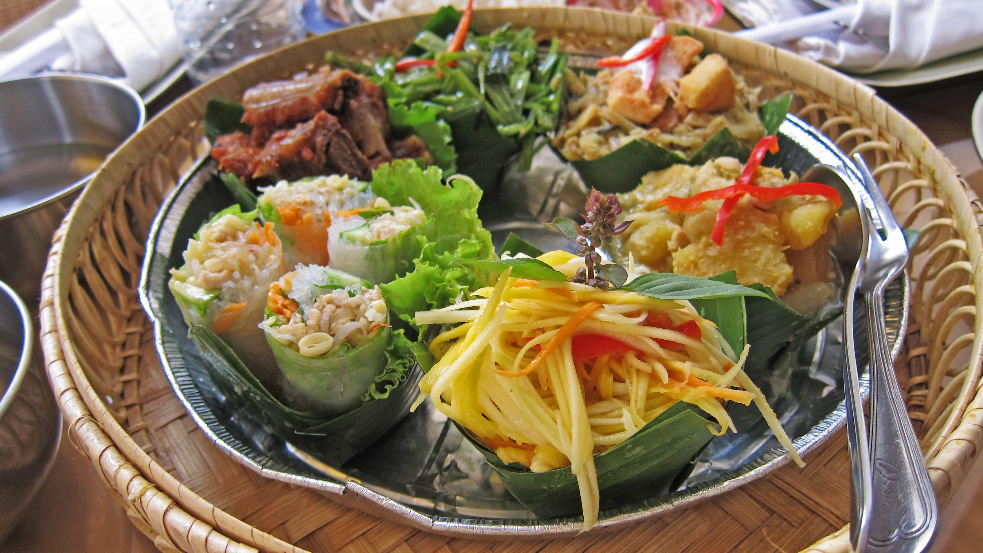Plate of food in Siem Reap