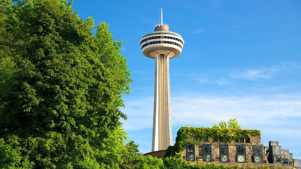 Show item 3 of 5. visiting the Skylon Tower in Canada
