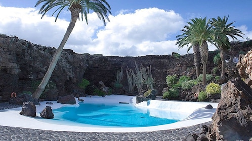 Landscaped swimming pool in Lanzarote