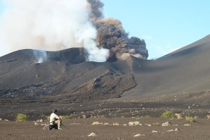 Show item 3 of 7. The eruption crater 2014