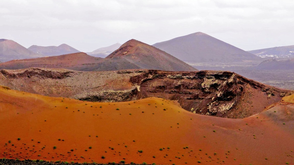 Show item 2 of 10. Mountains and dry desert in Lanzarote