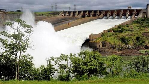 Water rushing off the Itaipu Dam in Iguazu