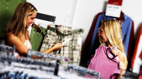 women shopping for clothes at a store in Paraguay