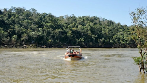 boat of passengers on the river in Argentina
