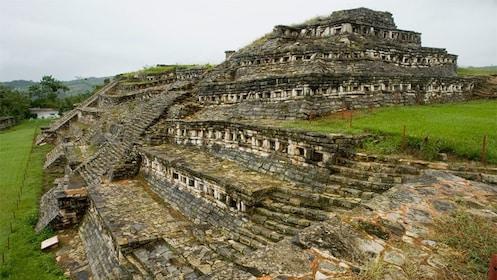 Yohualichan totonaca pyramids in Cuetzalan