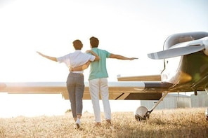 Romance Aircraft Flight + scenic tour + 3 course lunch + wine tasting + ham...