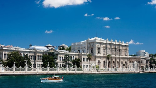 Dolmabache Palace along the Bosphorus Strait in Istanbul