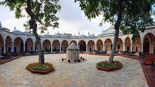 Inner courtyard of a mosque in Istanbul