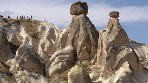 Fairy chimney rock formations in Cappadocia