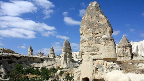 Unique fairy chimney rock formations in Cappadocia