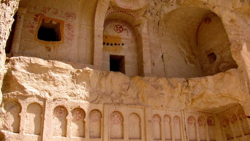 Remains of a stone church in Cappadocia