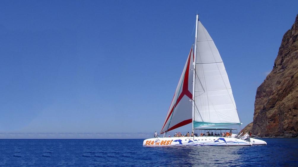Show item 2 of 5. Catamaran off the coast of Madeira Island