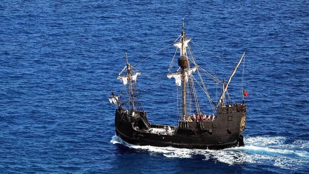 Show item 1 of 5. Nau Santa Maria Ship off the coast of Madeira