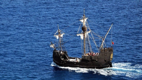 Nau Santa Maria Ship off the coast of Madeira