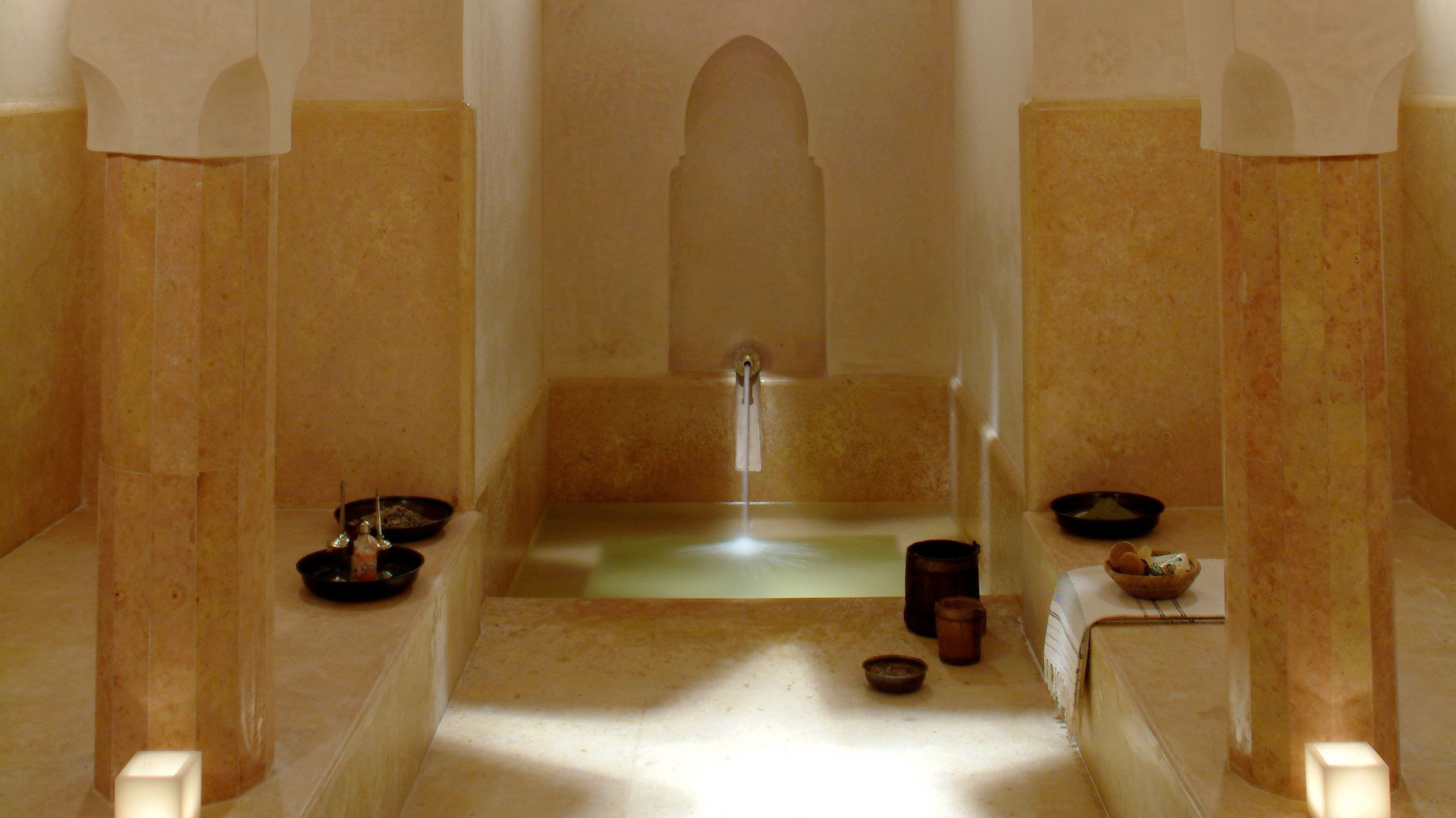 a bathing pool at a spa in marrakech