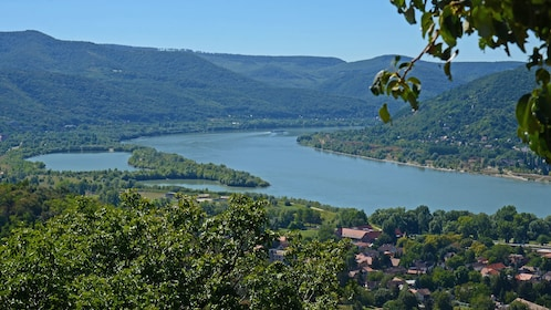View of the Danube river near Budapest