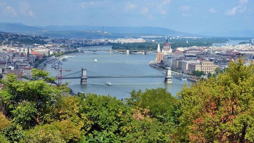 View of Budapest from a hilltop