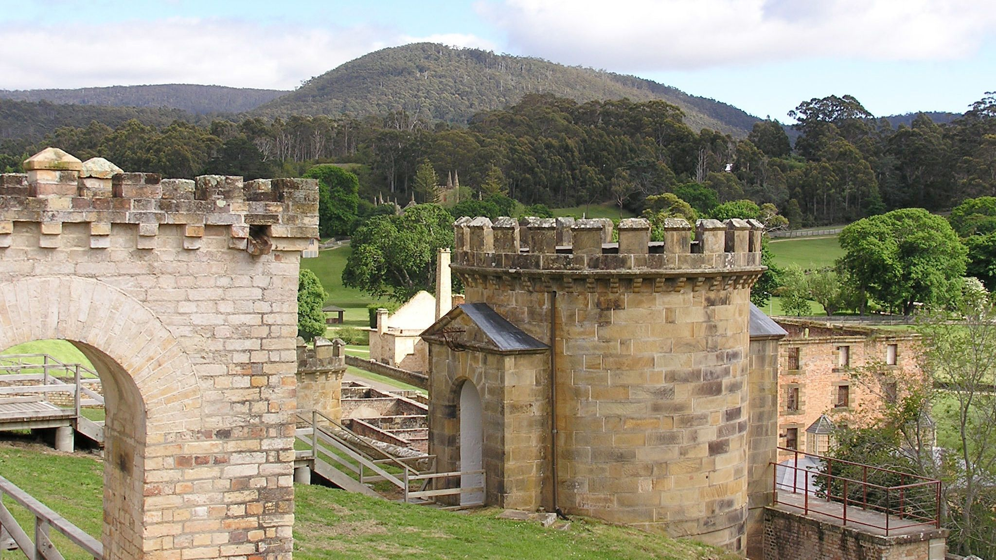Remains of an old stone building in Hobart