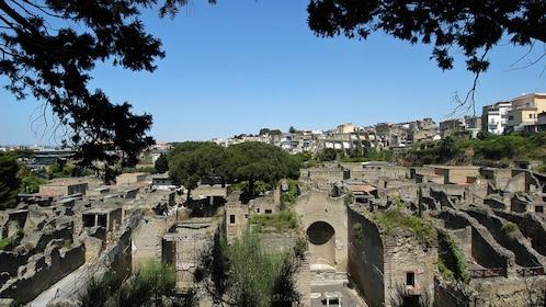 the excavation site of Herculaneum
