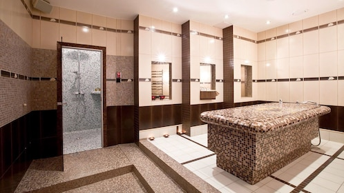 showers at a russian bath in moscow