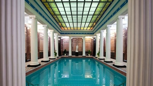 A pool at a russian bath in moscow