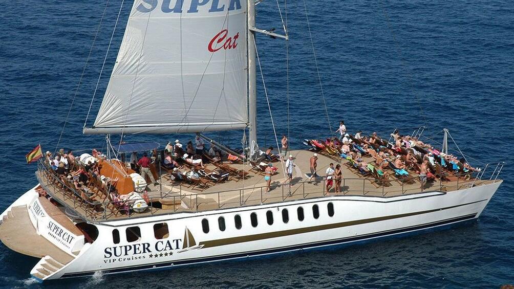 Show item 3 of 5. A Supercat Boat in Gran Canaria