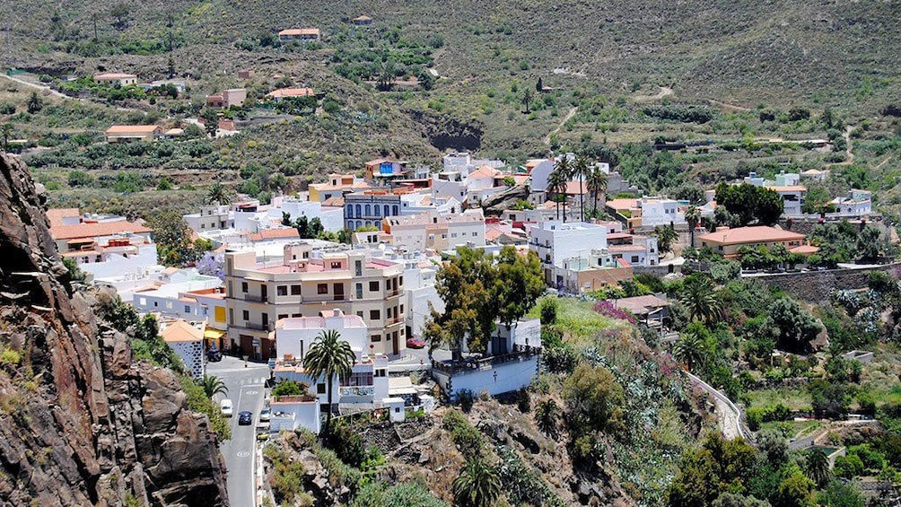View of the city from above in Gran Canaria