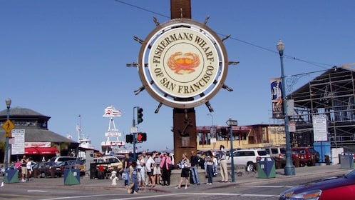 small group at the Fishermans Wharf in San Francisco