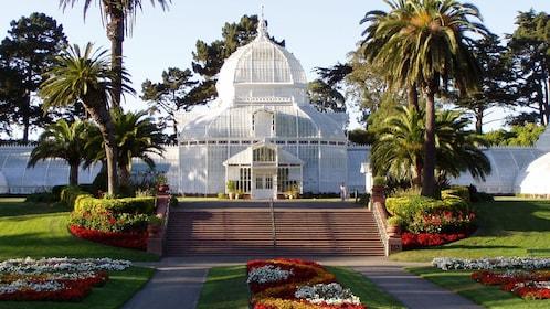 visiting the botanical garden in San Francisco