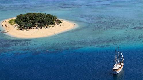 Sailboat near Tivua Island in Fiji