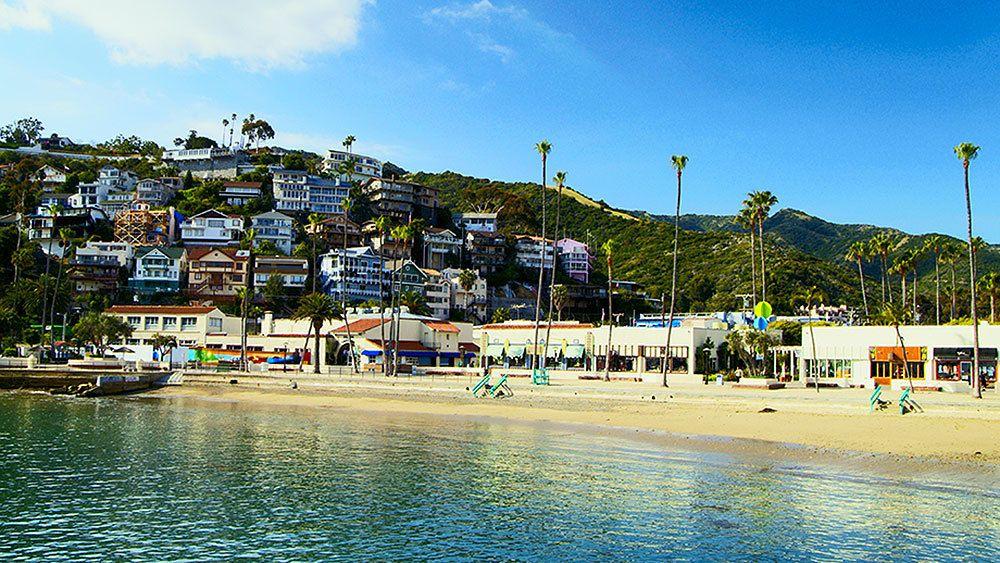 sunny day at the beach on Catalina Island