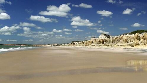 Beach view of Canoa Quebrada