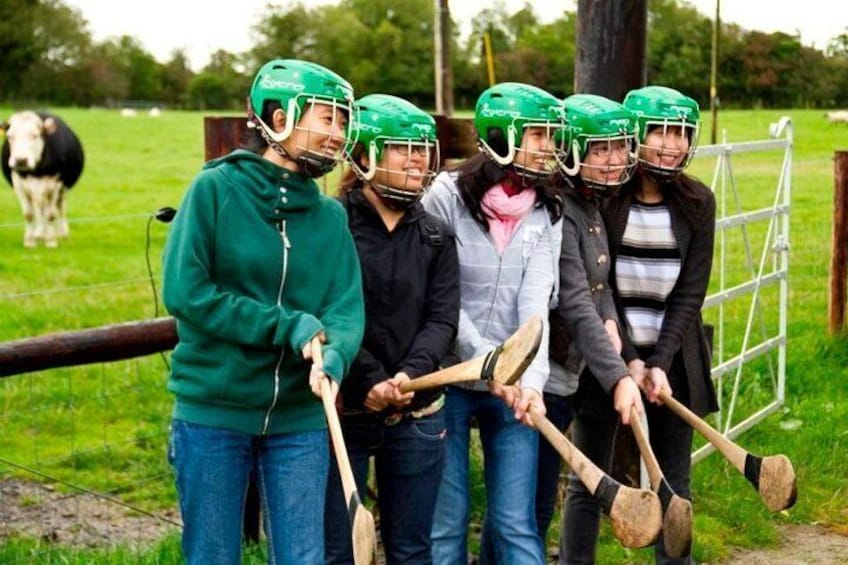 Try one of our national sports - hurling