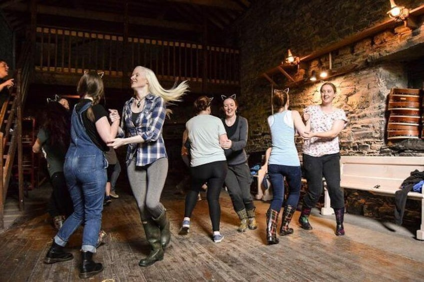 Learn one of Ireland's ceili dances - sure to get everyone smiling!