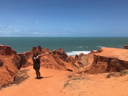 Morro Branco - Red Cliffs and Colorful Dunes