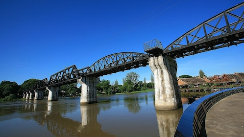 The famous River Kwai Bridge in Thailand