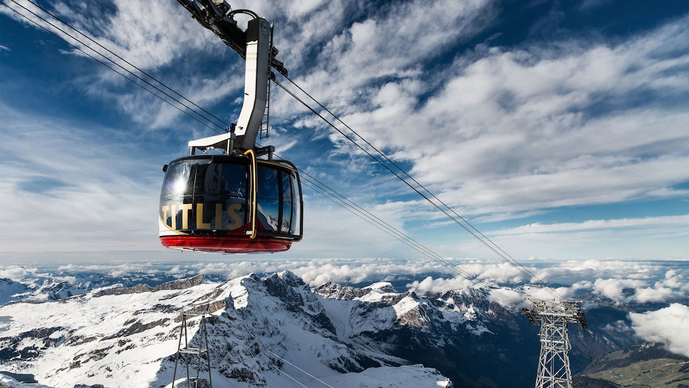 Show item 1 of 8. Gondola on Mount Titlis in Switzerland