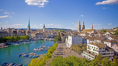 City and harbor of Zurich