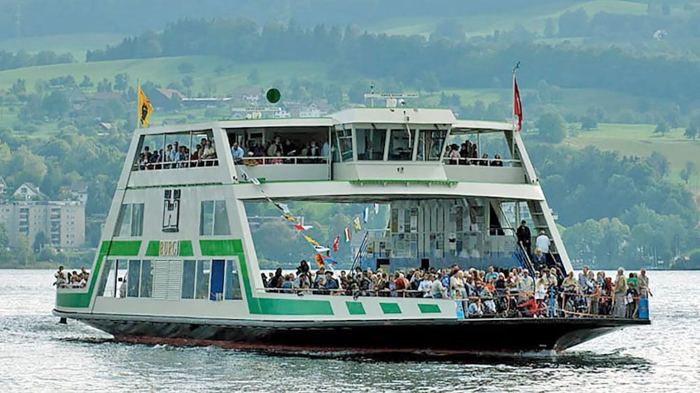 Passenger ferry boat on the lake in Zurich