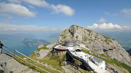 Scenic viewpoint on Mount Pilatus in Lucerne