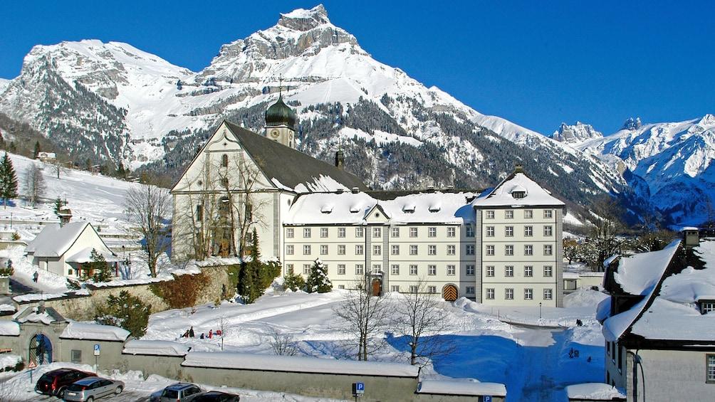 Snowy village of Engelberg