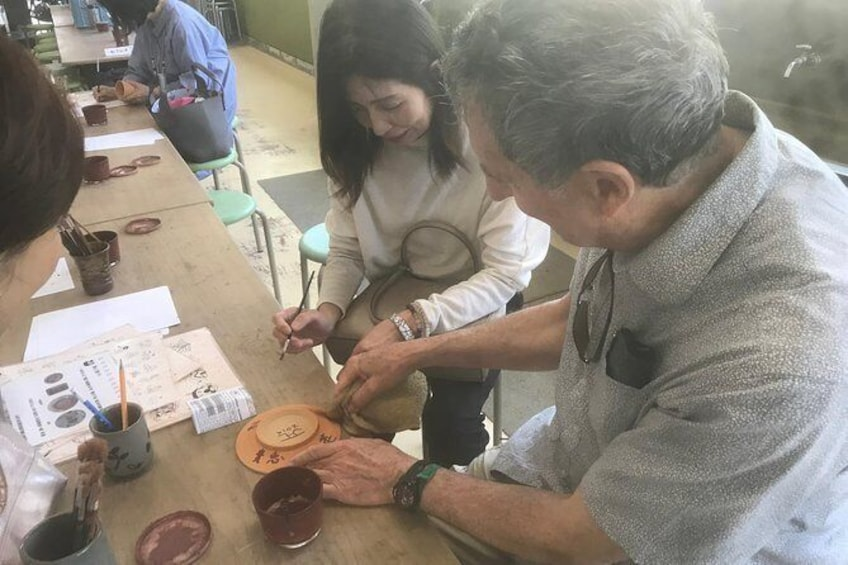 """Show item 1 of 12. Japanese traditional craft """"stand pile burning experience"""" and sightseeing in Tamba Teiyama (Shukura tour, castle, castle town)"""